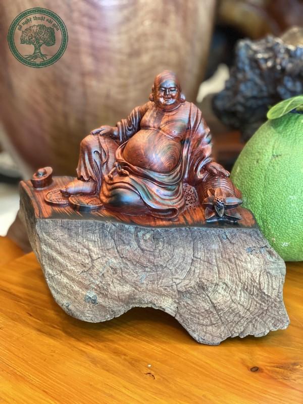 tượng di lặc gỗ trắc