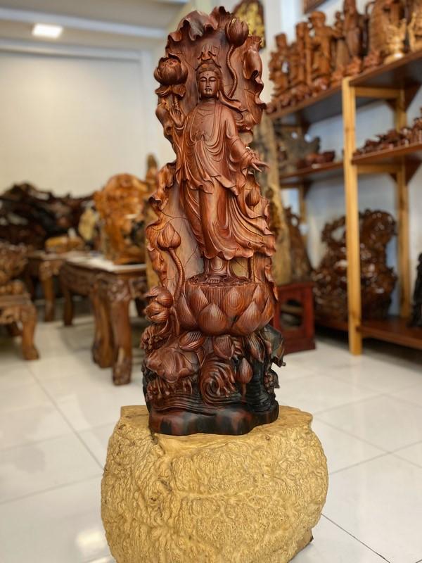 Tuong Go Phat Quan Am 85x34x15 7