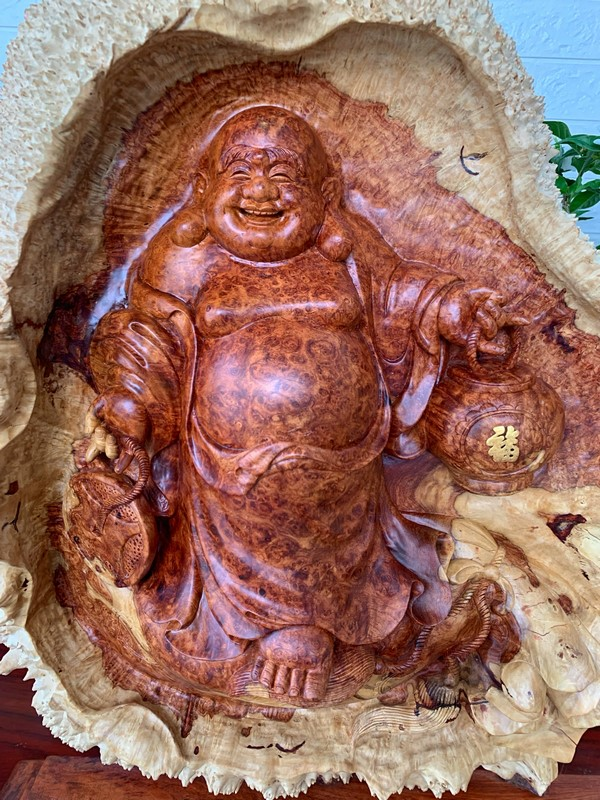 Tượng Phật Di Lặc Nu Hương cám hồng quý hiếm
