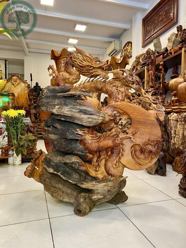 tượng gỗ rồng lũa hương