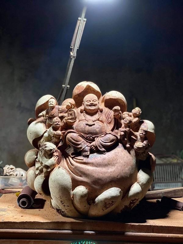 tượng gỗ nu hương